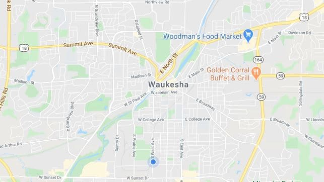 Waukesha, WI Map