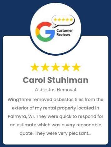 Carol Stuhlman Asbestos Removal Review