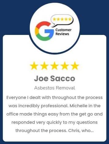 Joe Sacco Asbestos Removal Review